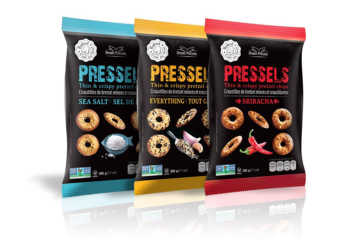Pressels Compared to Snack Factory Pretzel Crisps
