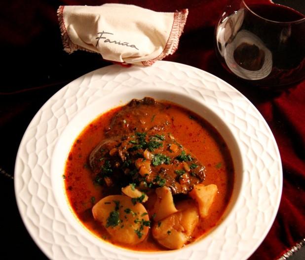 Spanish Marinated Portobello Mushrooms over Stewed Potatoes - food and ...