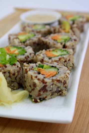 ... brown rice in lieu of white rice at their sushi bars locations inside