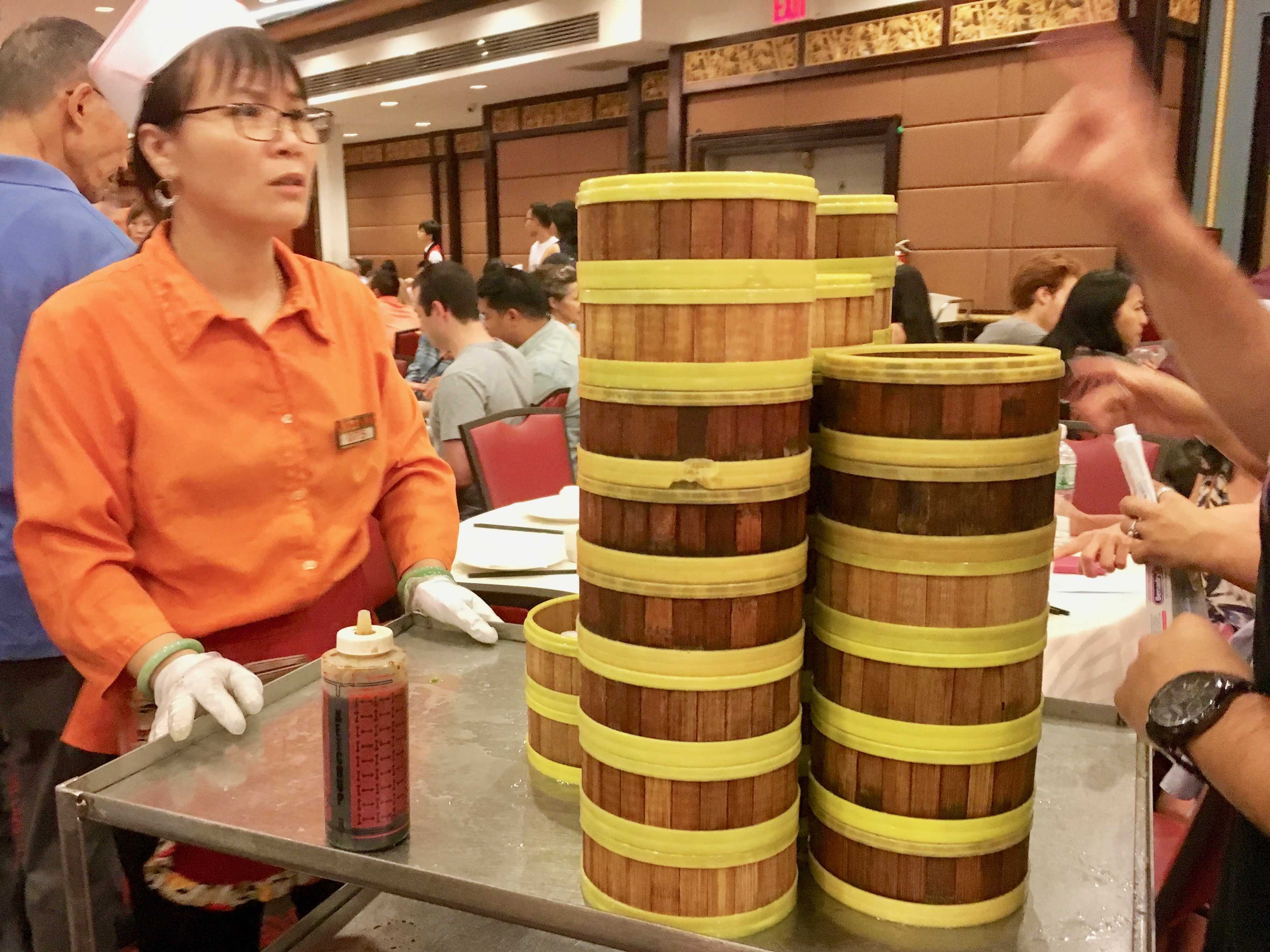 A Dim Sum Hall:  Jing Fong Restaurant, Chinatown, NYC