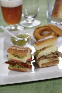 Jarlsberg Sausage and Mushroon Onion Sliders