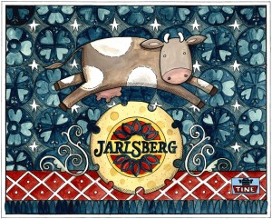 Norwegian Cow Jumps Over Jarlsberg Moon (very small image)