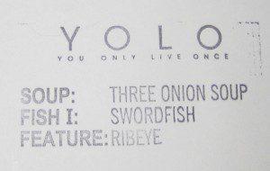 YOLO specials