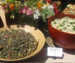 French Lentil Salad with Feta; Spring Orzo Salad with Broccolette, Peas and Pancetta
