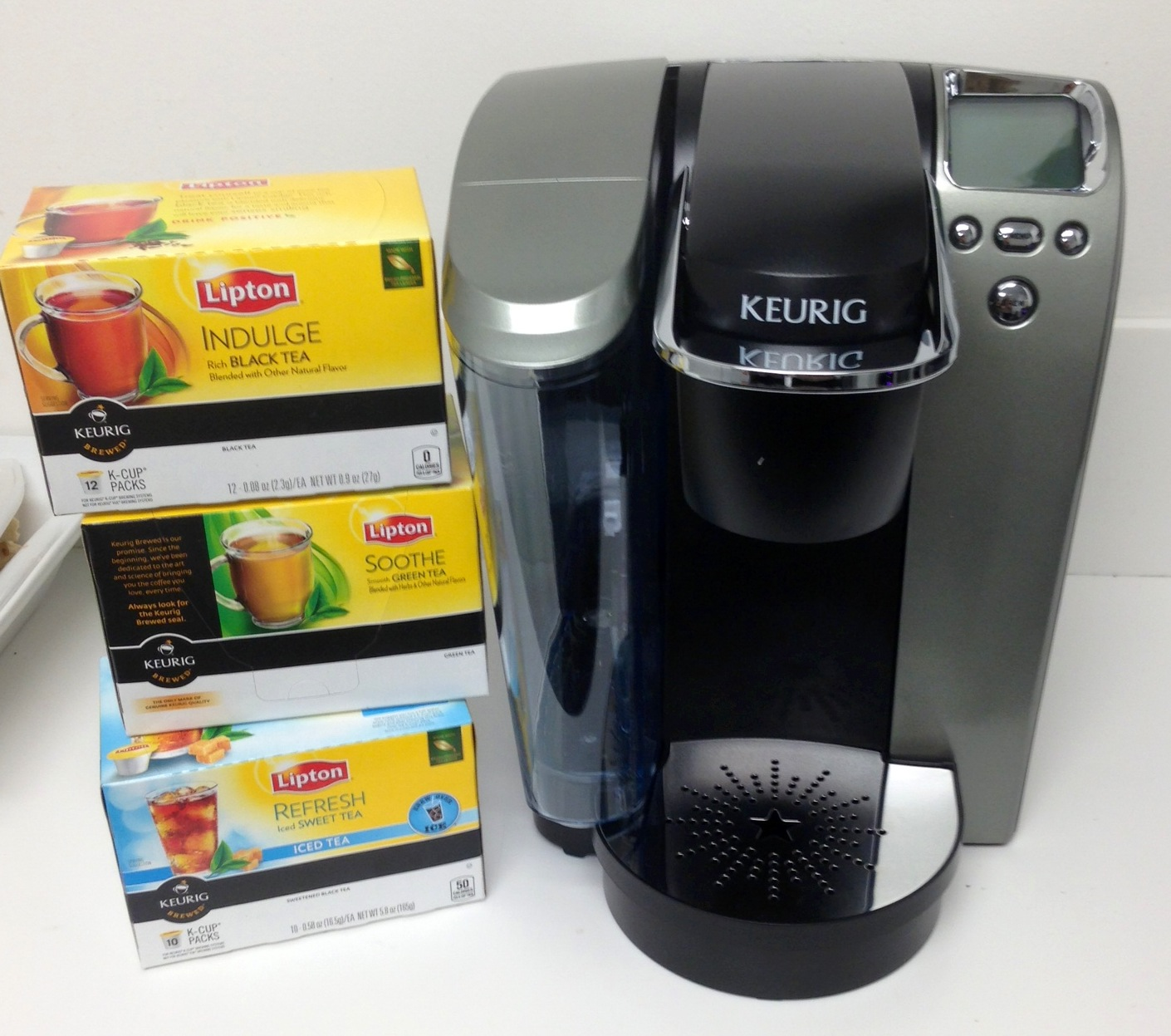 food product review and freebies win lipton k cups keurig brewing machine food blog. Black Bedroom Furniture Sets. Home Design Ideas